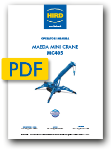 Maeda MC405 Mini Crane Operators manual