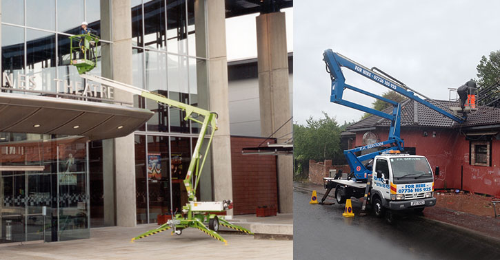 Static Boom (1b, 1b+) booms (outriggers), trailers-push-arounds, vehicle-mounted platforms