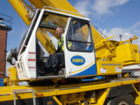 View from the cab – mobile crane driver Craig Jessop
