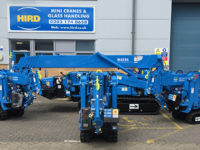 hird expanded its mini crane and glass lifting fleets