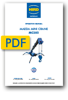 Maeda MC285 Mini Crane Operators manual