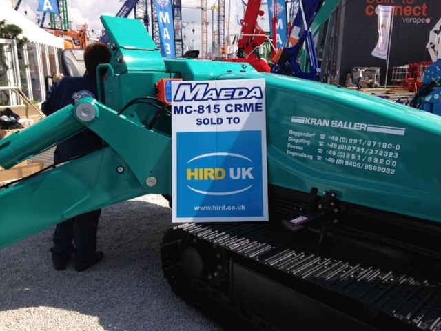Hird takes delivery of biggest ever Maeda mini crane – number 00001