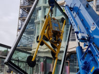 Hird Maeda MC815 mini crane and Hydraulica 3500 (Brutus) - Centre Point London