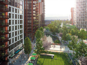 Embassy Gardens development in London - Winlet 785 HIRD
