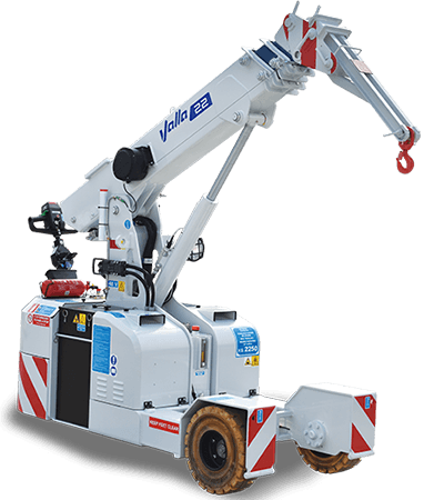 Valla 22E pick and carry crane - fit show