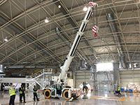 testHird flies Manitex Valla aviation crane message to Dubai expo