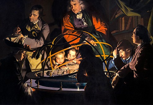A Philosopher Lecturing on the Orrery