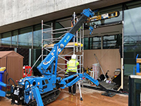 maeda 285 spider crane with searcher hook