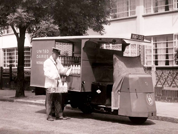 First Electric Milk Float 1947