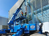 Hird mini crane + glass vacuum lifter equates to glazing success