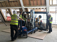 Material lift proves vital in London landmark renovation