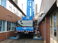 Tight squeeze for Hird mobile crane slashes cost of flue lift