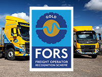FORS Gold for Hirds London transport fleet