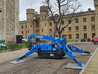 Crown jewel of mini cranes on lifting duty at Tower of London